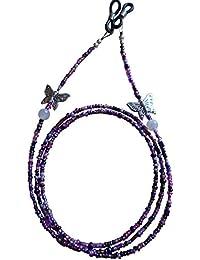 'Lily Purple Fait Main À Perles Dellenro Chaîne Pour Lunettes TrDWCV9EW