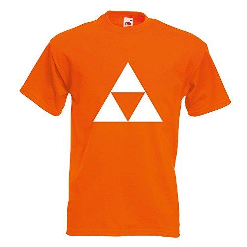 KIWISTAR - Triforce T-Shirt in 15 verschiedenen Farben - Herren Funshirt bedruckt Design Sprüche Spruch Motive Oberteil Baumwolle Print Größe S M L XL XXL Orange