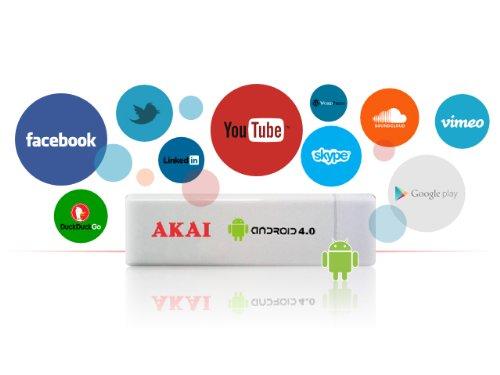 Akai AD02 TV-Box (4 GB, Android, USB) weiß