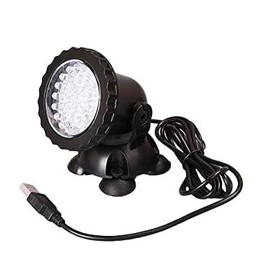 Balacoo USB Lampe Aquarium lumière sous-Marine LED pour Corail récif Fish Tank Submersible Aquarium Light Spot Lamp