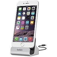 Belkin - Base Dock de Carga y sincronización para iPhone/iPad / iPhone 8/8+, Plateado