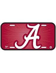NCAA Alabama Crimson Tide 15x 15x 30CM (15,2x 30,5cm) Plaque Immatriculation en plastique