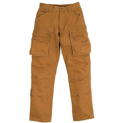 Carhartt. EB219. BRN. S401 Washed Duck Multi Pocket Tech Hose, Carhartt Braun, W32/L34 - Tech-bekleidung La