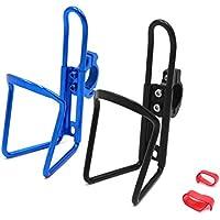 sourcing map 22mm Manillar Soporte de Cantimplora para Moto Bici Portabotellas Aluminio Negro Azul