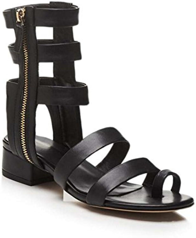 SHINIK Zapatos de mujer Summer New England Redondo con gruesas sandalias de tiras Bellas combinaciones de zapatos...