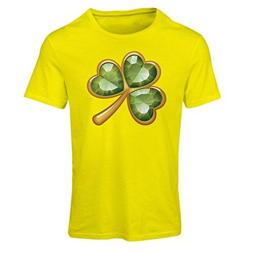 Maglietta Donna Irish shamrock St Patricks day clothing Giallo Multicolore