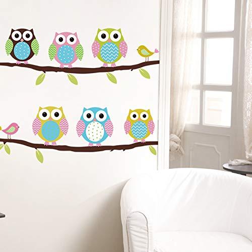Wandaufkleber Kinderzimmer Tier Eule Zeichnung Baum Vinyl Wandaufkleber Für Kinder Wohnkultur Wohnzimmer Dekor Wandtattoo Kinder Aufkleber Tapete
