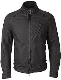 Belstaff abrigo impermeable para mujer, negro chaqueta de hípica para niños motorista en relieve de goma dura Racer camiseta H