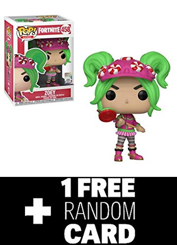 FunkoPOP Fortnite: Zoey + 1 Random Gaming Trading Card