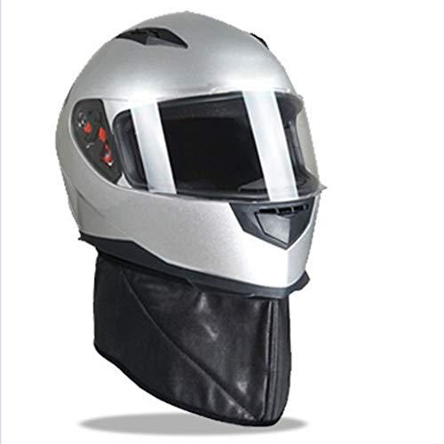 KT Caschi da Moto DOT Helmet Scooter Casco Bell Casco da Moto Caschi Visiere Occhiali da Moto Snowmobile Decalcomanie Argento Casco da Trek (Size : L)