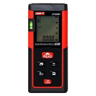 ANRIS Uni-T UT390B+ HD Professional Digitales Mini 40 Meter Laser-Entfernungsmesser Distanzmessgerät von Distanz, Flächen, Volumen