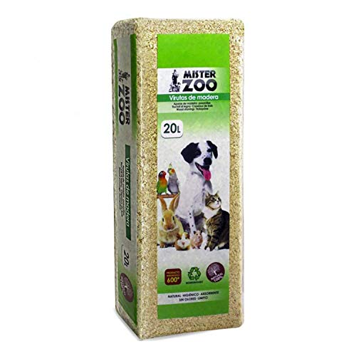 Virutas de madera 100% natural antibacteriano libre de polvo creando un ambiente más saludable para su mascota, sin olores, higiénico y muy absorbente. Las mejores virutas de madera para su mascota. Proteja la salud de su mascota con este saludable s...