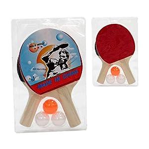 JUINSA - Juego Ping-Pong 2 Raquetas con 3 Bolas (5316100)