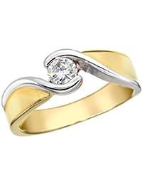Aglaia 18 kt Gelbgold 0.30ct Kanal Diamond Ring