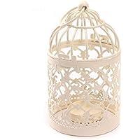 iTemer 5 piezas portavelas en forma de jaula de pájaros, estilo vintage, de metal, para decoración de bodas, bares, fiestas puntales decorativos