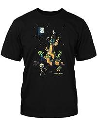 Minecraft T-shirt | mine Craft Femme | Produit officiel | Spot étanche Logo | | adulte Noir