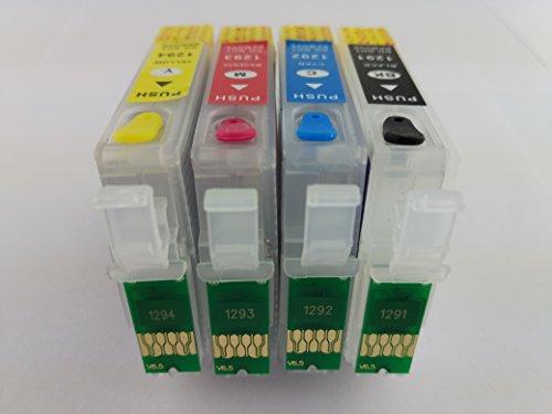 HEMEI @T1295-Cartucce di inchiostro vuote ricaricabili per Epson BX625FWD BX535WD BX630FW BX635FWD BX925FWD BX935FWD WF-7015 (Colori A Getto D'inchiostro Di Ricambio)