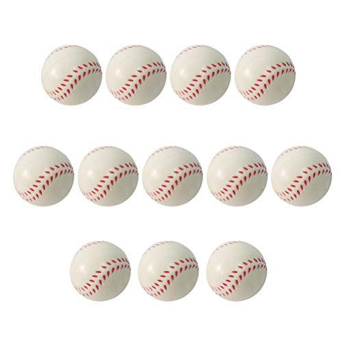 BESTOYARD PU Mini Baseball Ball Spielzeug Baseball Spielzeug für Baby Kind Kind 6,3 cm 12 Stücke