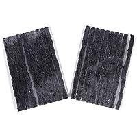 Vosarea 100PCS Cuerdas de reparación de Llantas Tiras de Goma Automotriz Ruedas de vacío Cinta de pinchazos Herramientas de reparación de Llantas para Autos - 100 x 3.5mm (Negro)