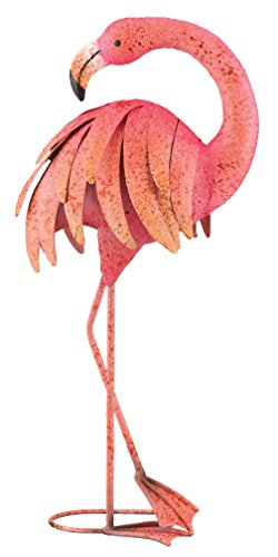 Regal Art & Geschenk Gefiederpflege Pink Flamingo stehend Kunst, 25 - Butterfly Birdbath
