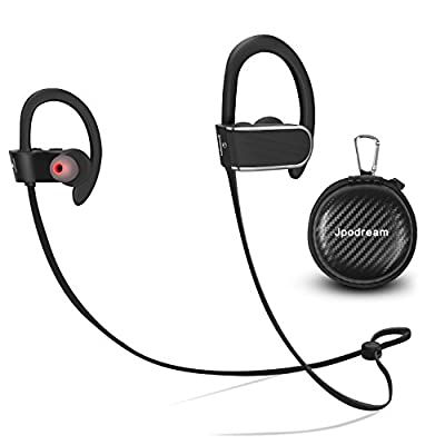 Running Headphones, Noise Cancelling Bluetooth Earbuds with Superb Sound Quality, IPX7 Waterproof, Wireless Sport Earphones with Built-in Mic for Gym Cycling Workout by Jpodream