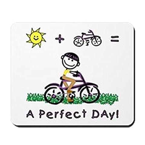cafepress–Soleil + pour vélo–Tapis de souris en caoutchouc antidérapant, Tapis de Souris Gaming