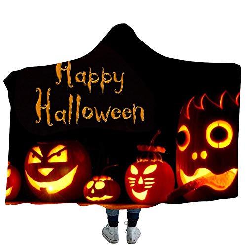 60 50inch Halloween Mit Kapuze Decke Kürbis Tragbare Decke Kapuzenpullover Für Kinder (Plüsch-robe Erwachsener)