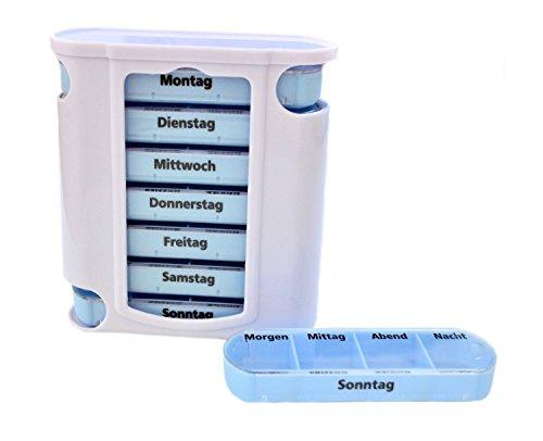 M&H-24 Pillendose-Pillenbox-Tablettendose-Tablettenbox-Medikamentendosierer-Wochendosierer für 7 Tage