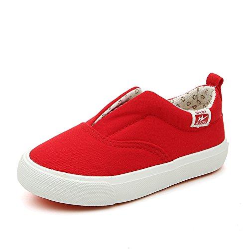 Gummi Kinder Unisex Rundzehen Frühling Sneakers Flache Slippers Gemütliche Sohle Rot ZIZBfW7wS1