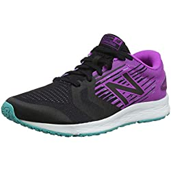 New Balance Flash v3, Zapatillas de Correr para Mujer, Negro Black/Purple, 43 EU