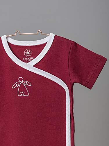 Organic by Feldman Unisex Baby Body Kurzarm Wickelbody aus Bio Baumwolle, GOTS Zertifiziert, Schutzengel Rot, (62/68) - 4