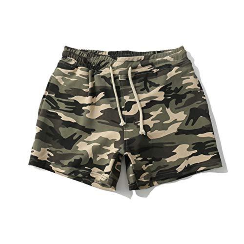 Bañador Camuflaje Hombre Playa Pantalones Corto Camuflaje Verano Traje de Baño Bóxers Bañadores...