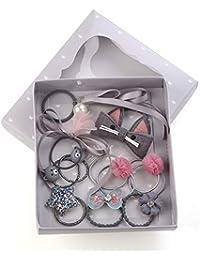 10pcs Conjunto Lindo Arco de la perla Surtido Rosa Princesa Headwear Accesorios para el cabello Set de regalo Baby Girls Hair Clips Barrettes Horquillas para el cabello Lazos para el pelo Bandas para