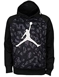 Jordan Big Boys 'AJ 23 Jumbo Pull over Thermo Fit hoodie, Ragazzi, Black