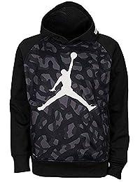 Jordan Big Boys 'AJ 23Jumbo Pull over Thermo Fit hoodie, Ragazzi, Black