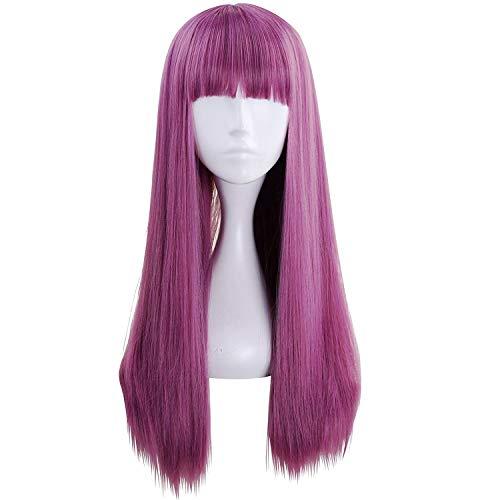 2, Violett, mit Perücke für Cosplay, Halloween-Kostüm, Party ()