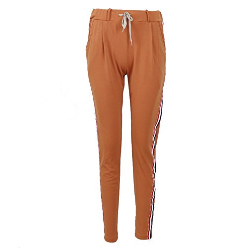 Femmes Transpiration Pantalon Survêtement - Femmes Joggers Aptitude Piste Pantalon Sport Fonctionnement Football Silm En forme Loisir Pantalon Tenue S - XL hibote Kaki