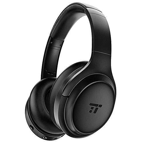 TaoTronics Active Noise Cancelling Bluetooth 5.0 Kopfhörer, Tiefer Bass mit CVC Geräuschunterdrückendes Mikrofon, 24 Std. Wiedergabedauer, Komfortable Ohrpolster für Reisen tragen [2019 Neuste]