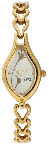 41s527Pgb8L - Titan NE2457YM02 Raga Champagne Women watch