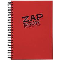 Clairefontaine - 8354C Zap book Bloc esquisse spiralé  160 Feuilles - 21 x 29,7 cm  -   papier blanc 80g uni - Coloris aléatoire.