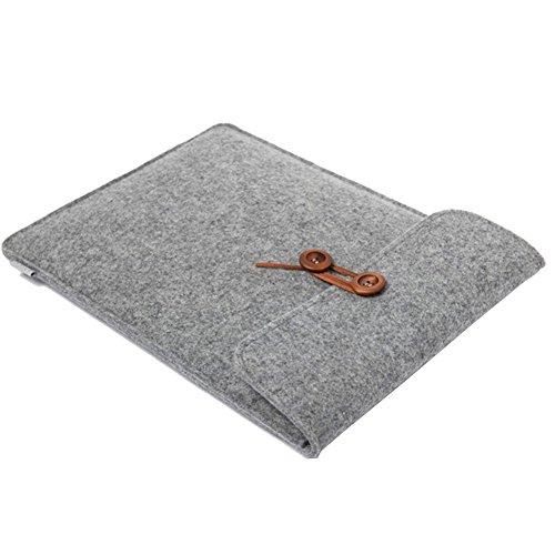 aab954910a Moollyfox Housse en feutre de laine Asus/Lenovo / Apple Retina Sacoche PC  Portable Gris