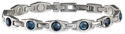 sabona of London Magnet gioielli, BRACCIALE DA DONNA PER Magnet Lady Blue Gem in allergenfreiem (Cobalt Gem)