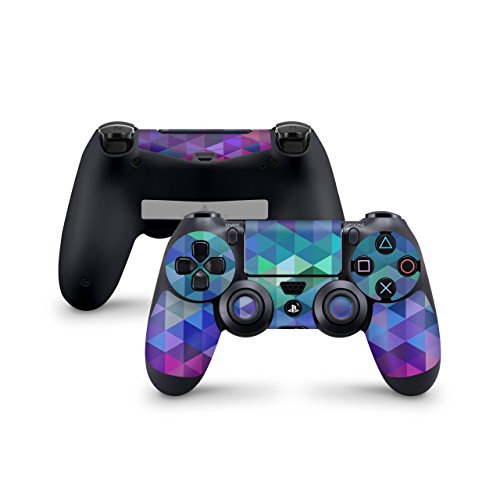 Skins4u Controller Aufkleber Design Schutzfolie Skin kompatibel mit Sony Playstation 4 PS4 Charmed Diamond (Playstation-drum-set)