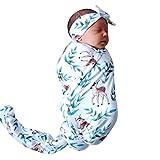 Mitlfuny Unisex Baby Kinder Jungen Zubehör Säuglingspflege,Neugeborene Baby Baby Print Cartoon Decke Swaddle Schlafsack Sack Kinderwagen