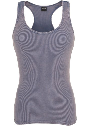 Urban Classics Ladies Faded Tanktop Top Hummer Denimblue
