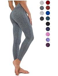 2d5aa8b7e1 QUEENIEKE Women Power Stretch Leggings Plus Size Medium Waist Yoga Pants  Hidden Pocket Running Tights