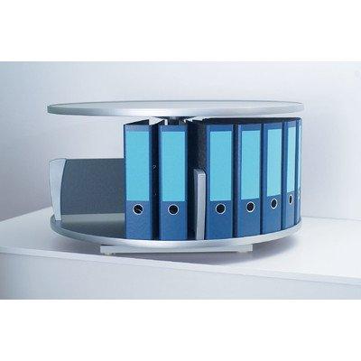 Ordnerkarussell Tischgerät 1 Etage bis 24 Ordner, graphit