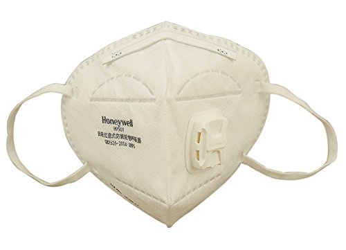Honeywell PM 2.5 Anti Pollution Foldable Face Mask with Easy Exhalation Valve, White, Box of 5