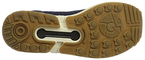 adidas Zx Flux Primeknit, Sneakers Basses Homme Bleu (Collegiate Navy/Collegiate Navy/Gum)