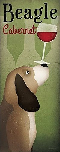 Telaio-foto - Ryan Fowler: 40 x 100 cm wandbilder Beagle cantina Cabernet